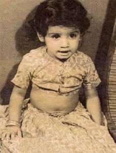 Raveena Tandon Childhood pictures 1