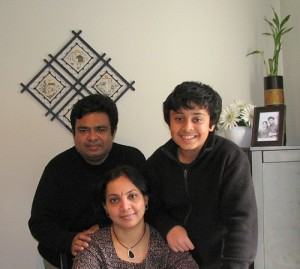 Actress Rekha Half-brother Satheesh Kumar and his wife and son