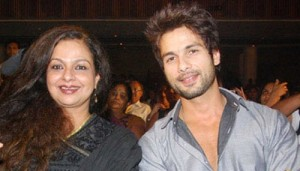 Supriya Pathak Step son Shahid Kapoor and his mother Neelima Azeem